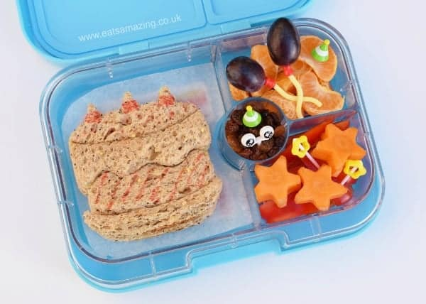 Easy Birthday Bento for Kids - Birthday cake sandwich and balloons for a cute birthday pakced lunch