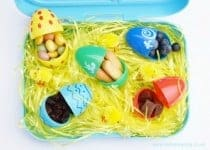Fun Easter Snack Idea for Kids from Eats Amazing UK - Fill plastic eggs with finger foods - with lots of different food ideas