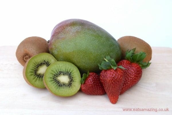 yellow fruits healthy frozen fruit smoothie recipe