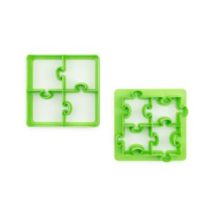 Jigsaw Puzzle Shaped Sandwich Cutter for Kids - Lunchpunch Sandwich Cutters - Back