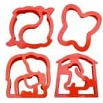 Lunch punch sandwich cutter set from the Eats Amazing UK bento shop - lunchpunch critters elephant dolphin dog butterfly kids cutters