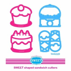 Lunch punch sandwich cutter set from the Eats Amazing UK bento shop - lunchpunch sweets cake cupcake ice cream gumball machine kids cutters