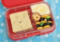 Winnie The Pooh bento lunch - fun and healthy food for kids from Eats Amazing UK