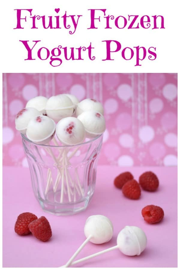Easy homemade frozen yogurt pops recipe - dig out your cake pop moulds for this fun and healthy summer treat for kids #EatsAmazing #kidsfood #frozenyogurt #funfood #popsicles #easyrecipe #healthykids #summerfood #frozen #cakepops