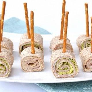 Party Food Idea – Tortilla Roll-up Lollipops