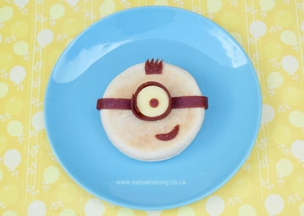 Minion English Muffin Tutorial and Minion Bento Lunch - Healthy fun food for kids from Eats Amazing UK
