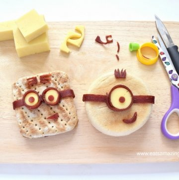 Minion Sandwiches Tutorial and Minion Bento Lunch - Healthy fun food for kids from Eats Amazing UK - with video tutorial