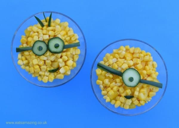 Minion Inspired Healthy Layered Rice Salad Recipe from Eats Amazing UK - fun food for kids
