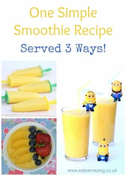One easy recipe to make delicious healthy smoothies - smoothie bowls and popsicles - with a secret hidden vegetable ingredient