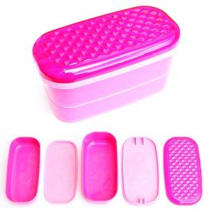 Pink Jewelled Japanese Bento Box from the Eats Amazing UK Shop