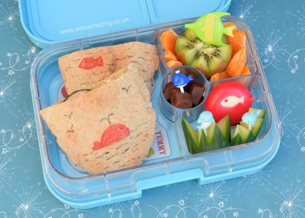 Under the Sea Bento Lunch in the Yumbox Panino from Eats Amazing UK - fun and healthy food ideas for kids