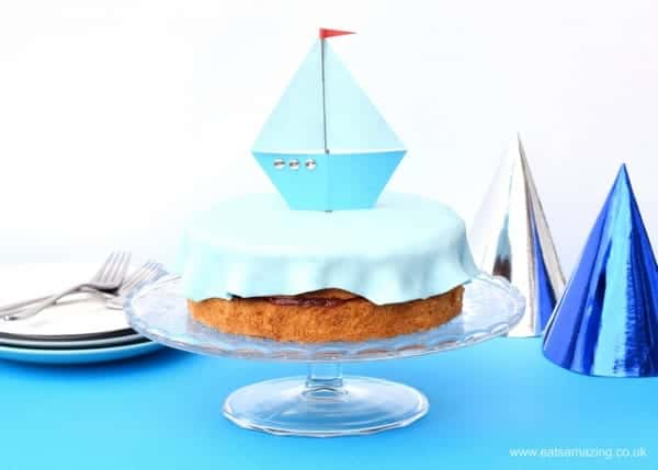 Easiest ever childrens birthday cake idea - make this quick and easy boat cake in less than an hour - from Eats Amazing UK