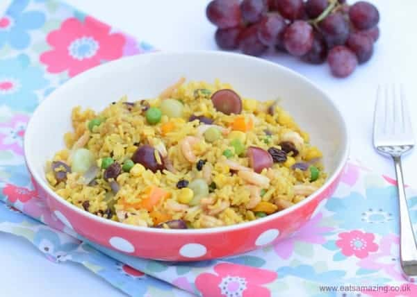 Really Simple Fruity Prawn Rice - healthy family friendly recipe that kids will love - from Eats Amazing UK
