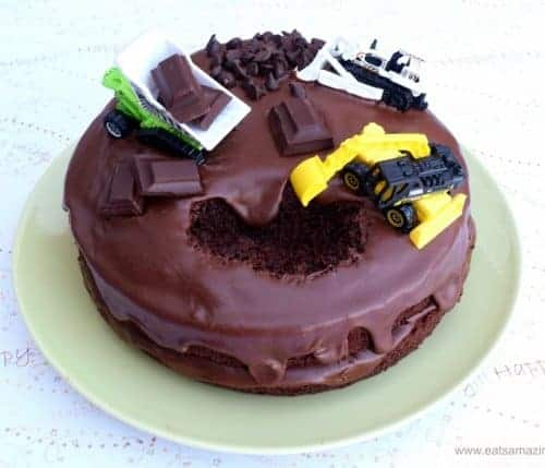 Superb Easy Digger Cake Idea Funny Birthday Cards Online Alyptdamsfinfo