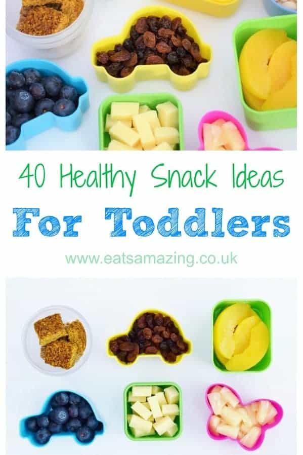 40 healthy snack ideas for toddlers - these quick and easy kids food ideas are perfect to pack for when you are on the go with little ones #snack #snacking #toddler #toddlerfood #babyledweaning #blw #organicfood #healthysnacks #kidsfood #healthykids