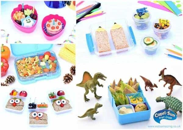 5 easy and fun bento lunches for kids from Eats Amazing UK with Capri-Sun Fruit Crush