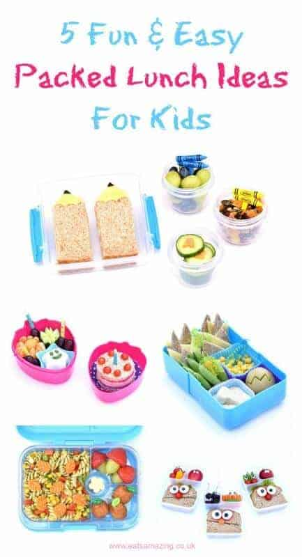 5 quick easy and fun packed lunch ideas for kids – perfect for back to school – from Eats Amazing UK