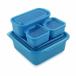 goodbyn portions on the go lunch box set blue eats amazing. Black Bedroom Furniture Sets. Home Design Ideas