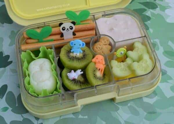 Fun kids animal bento lunch box from Eats Amazing UK - packed in the Yumbox lunch box