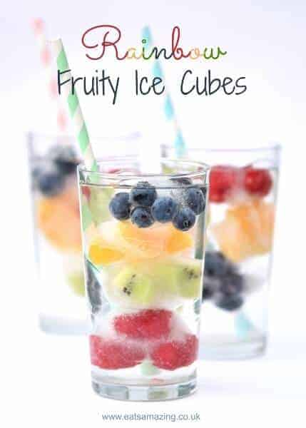 Rainbow fruit ice cubes eats amazing for Fun cocktails to make