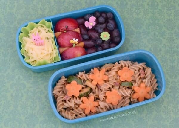 Garden bento lunch in the Polar Gear bento box - fun healthy packed lunch ideas for kids from Eats Amazing UK