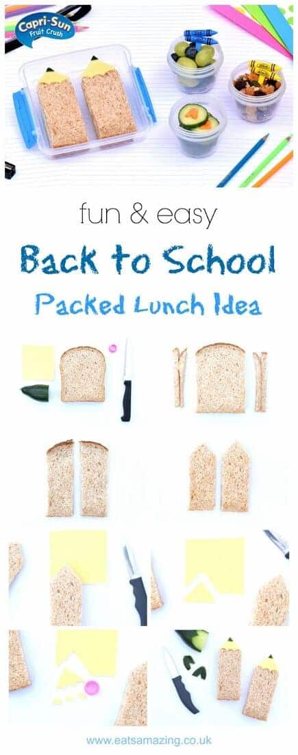 How to make a fun back to school packed lunch in just 10 minutes – with cute pencil sandwich from Eats Amazing UK