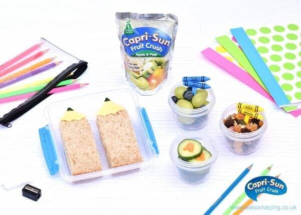 How to make a fun kids back to school packed lunch in just 10 minutes! With cute pencil sandwiches from Eats Amazing UK
