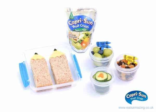 How to make a fun back to school packed lunch in just 10 minutes - with easy pencil sandwiches tutorial from Eats Amazing UK