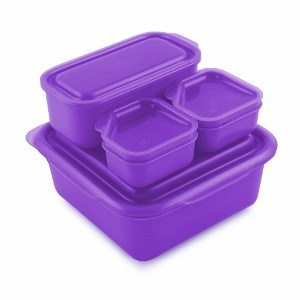 goodbyn portions on the go lunch box set purple eats amazing. Black Bedroom Furniture Sets. Home Design Ideas