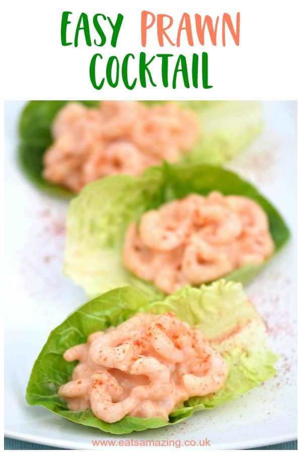 Quick and easy prawn cocktail recipe - the perfect simple starter for Christmas or a special family meal #EatsAmazing #easyrecipe #starter #Christmasfood #prawn #familyfood #cookingwithkids #recipes #Christmas