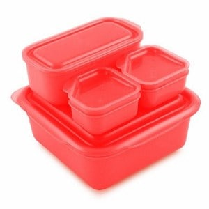 goodbyn portions on the go lunch box set red eats amazing. Black Bedroom Furniture Sets. Home Design Ideas