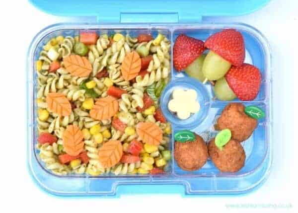 Simple leftover pasta salad recipe for a fun kids packed lunch