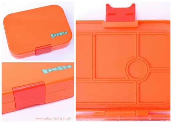 Yumbox UK bento box review from Eats Amazing UK - kids lunchbox with compartments - leakproof bento box