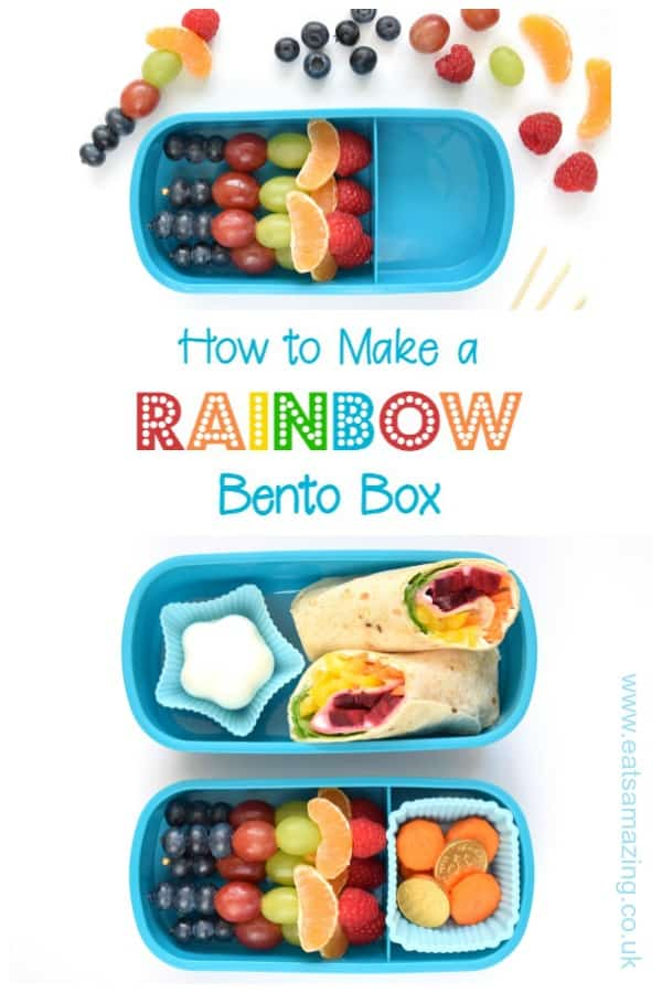 How to make a rainbow bento lunch with step by step tutorials and recipes - gorgeous fun and healthy rainbow food ideas for kids #bento #kidsfood #lunchbox #rainbowfood #rainbow #bentobox #schoollunch #funlunch #funfood #vegetarianrecipes #lunchideas #lunch #healthylunch #healthykids