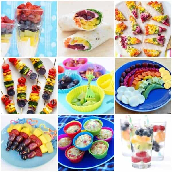10 Fun and healthy rainbow foods for kids - all natural rainbow colours with no food colourings - Eats Amazing UK