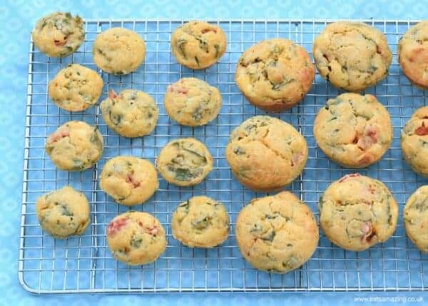 Breakfast Corn Muffins recipe - a yummy healthy breakfast idea - great for cooking with kids