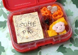 Charlottes Web Book Bento Lunch