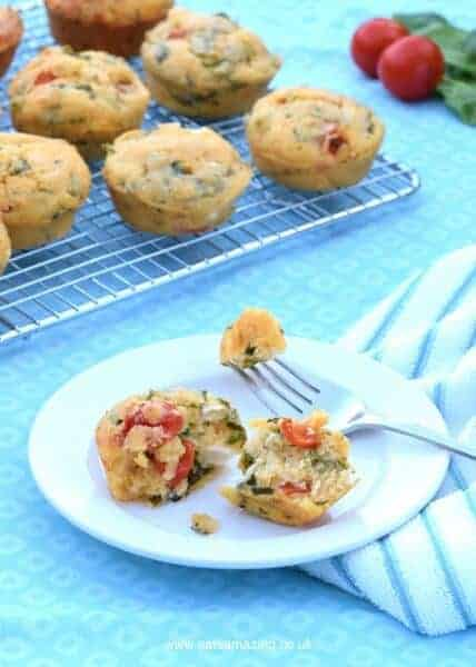 Easy Breakfast Corn Muffins recipe - a tasty healthy breakfast idea - great for cooking with kids
