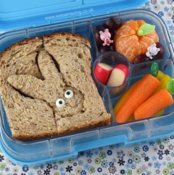 Easy Easter Bunny Themed Bento Lunch from Eats Amazing UK - Cute Easter Food for Kids