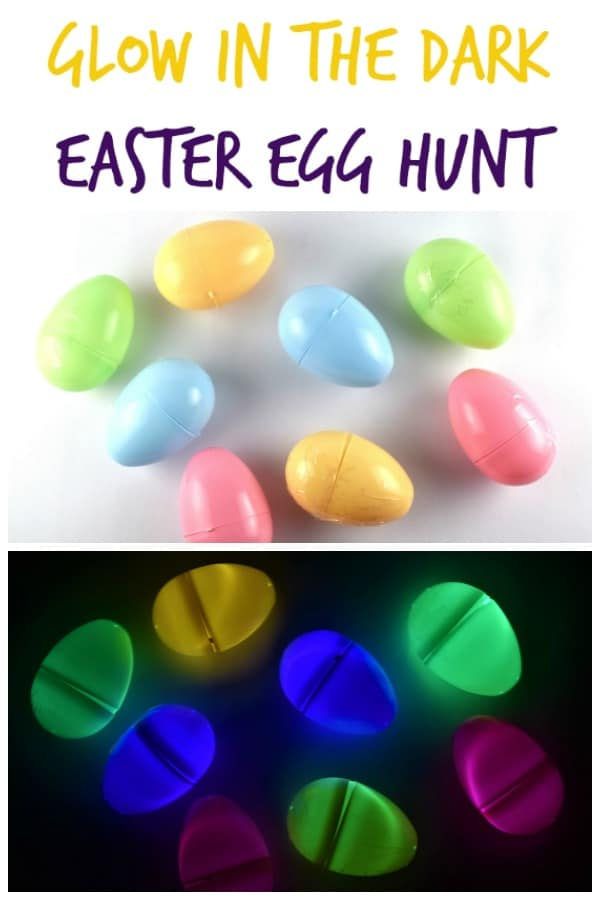 Easy glow in the dark Easter egg hunt for kids - a fun alternative to chocolate eggs #EatsAmazing #Easter #egghunt #easterfun #eastereggs #easteregghunt #easterbunny #eastercrafts #kids #kidsactivities #activekids #healthykids #glowsticks