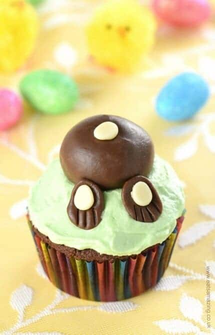 Fun Easter Bunny cupcakes with a yummy hidden vegetable - kids will never guess secret ingredient in these cute cupcakes