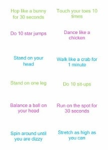 Fun and healthy exercise themed Easter egg hunt idea for kids from Eats Amazing UK