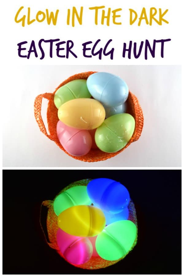 How to set up a fun glow in the dark Easter egg hunt for kids - a great alternative to chocolate this Easter #EatsAmazing #Easter #egghunt #easterfun #eastereggs #easteregghunt #easterbunny #eastercrafts #kids #kidsactivities #activekids #healthykids #glowsticks