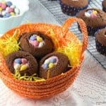 Quick and easy Easter nest cupcakes recipe - a fun dessert for Easter that takes no time at all to make
