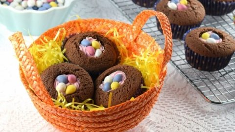 Quick easy easter nest cupcakes negle Images