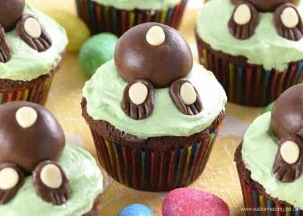 Super fun Easter Bunny Cupcakes - these are easy to make and the kids love them
