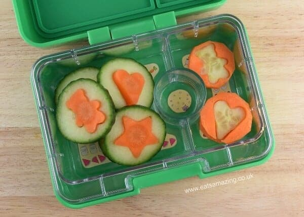 Carrot and cucumber coins - a fun healthy snack idea that kids will love from Eats Amazing UK