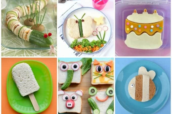35 cute and fun sandwiches for kids - great sandwich ideas for lunch boxes and party food too