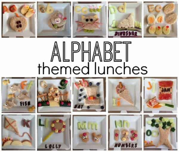 A Whole alphabet of fun sandwiches from Here Come the Girls - cute lunch ideas for kids