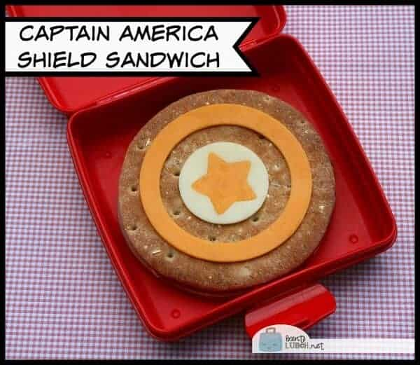 Awesome Captain America Shield Sandwich for kids from Bento Lunch